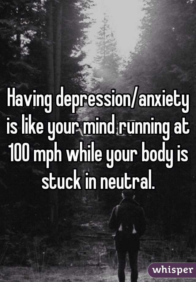 what anxiety-depression are like